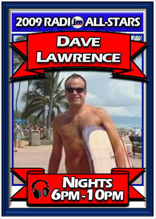 DAVE LAWRENCE OFFICIAL RADIO ALL-STAR CARD