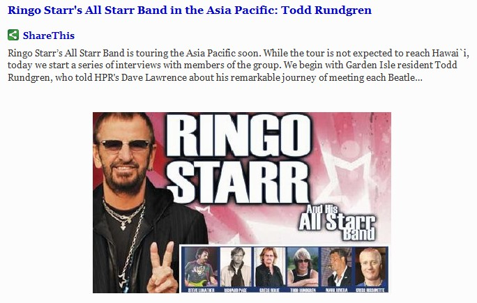Ringo one - Todd