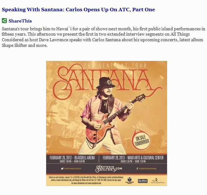 Santana week 1