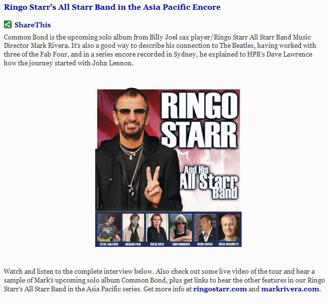 Ringo Series Encore