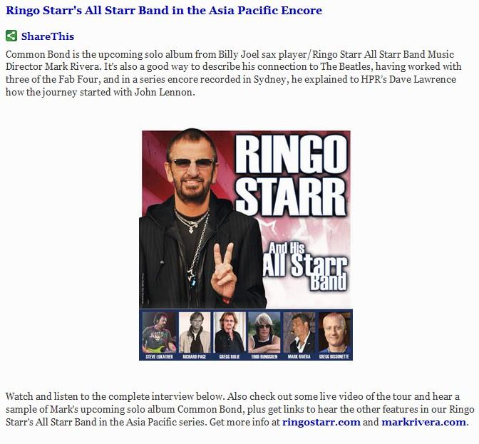 Ringo Series Encore